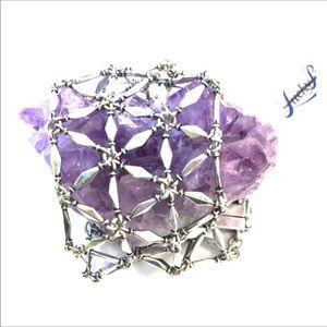 Lucky Brand Silver Refractive Locking Bracelet
